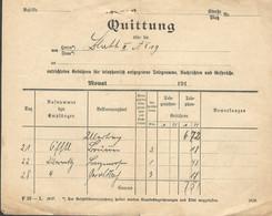 (7733) Bayern 1917,  Quittung überTelegramgebühren,. Schrobenhausen  PLZ 86529  - Bavière