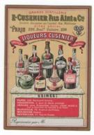 CUSENIER  - DISTILLERIE  - LIQUEURS - Carte Commerciale  Cartonnée - 8,5 X 12,5cm - Other