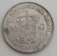 PAYS-BAS - NEDERLAND - ½ GULDEN 1930 - ( Argent - Silver ) - KM# 160 - [ 8] Monedas En Oro Y Plata
