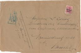 524/30 -- Province Du LIMBOURG - Devant Papiers D' Affaires TP Germania ASCH - Censure HASSELT Bleu-Vert - Origine NIEL - WW I