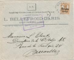 527/30 -- Province Du LIMBOURG - Enveloppe TP Germania BORGLOON LOOZ 1916 - Censure HASSELT - Entete Bellefroid , Assur. - WW I