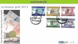 Nfh185fb  MUNTEN GELD UIL SLANG KIKKER VISSEN SCHELP OWL SNAKE FROG FISH SHELL COINS CURRENCY MONEY ARUBA 2013 FDC - Münzen