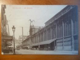 CPA- Bruxelles- Les Halles - Tramway - Circulée à De Potter, Vielsam, 1907 - Monuments, édifices