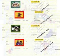 12 Cheques CCP Essai Figurines Bandes Dessinees Specimen Sans Valeur - Postal Stamped Stationery