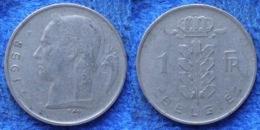 BELGIUM - 1 Franc 1958 Flemish KM# 145.1 Baudouin I - Edelweiss Coins - Bélgica