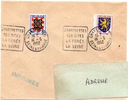 SEINE Et MARNE - Dépt N° 77 = CHARTRETTES 1952 = FLAMME DAGUIN ' FORET SITES ' - Marcofilia (sobres)