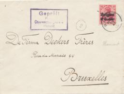 532/30 -- Province Du LIMBOURG - Enveloppe TP Germania HAMONT 1915 - Censure HASSELT - WW I