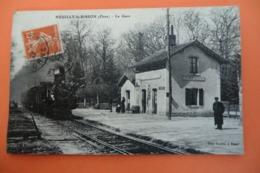 CPA 61 ORNE NEUILLY LE BISSON. La Gare. - France