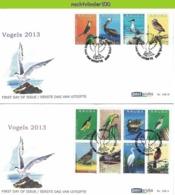 Nfh188A+Bfb FAUNA VOGELS UIL PATRIJS CACTUS PARROT PELICAN OWL DUCK PARTRIDGE BIRDS VÖGEL AVES OISEAUX ARUBA 2013 FDC's - Art