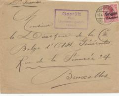 533/30 -- Province Du LIMBOURG - Enveloppe TP Germania HASSELT (sans Lettre A) 1915 - Censure HASSELT - WW I