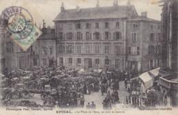 Vosges -  Epinal - La Place De L'Atre, Un Jour De Marché - Epinal