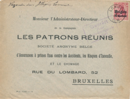 536/30 -- Province Du LIMBOURG - Enveloppe TP Germania LOMMEL 1916 - Censure HASSELT - Expéd. Sleyers - WW I