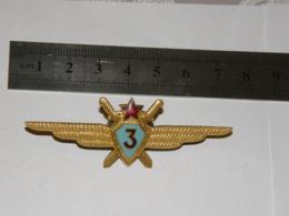 USSR SOVIET MILITARY PILOT III CLASS WINGS ENAMEL BADGE 219 - Militaria