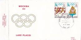 België - FDC 548a - 4 November 1978 - Voorbereiding Der Olympische Spelen 1980 - Moskou/Lake Placid - OBP 1915-1916 - FDC