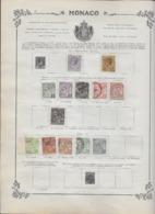 Monaco Collection Ancienne Sur Charnière - Timbres Oblitérés/neufs * B/TB - 5 Scans - Collections, Lots & Series