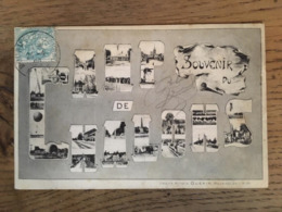 CPA, écrite En 1906, Souvenir Du Camp De Châlons, Multivues, éd Librairie Militaire Guérin, Timbre - Mourmelon Le Grand