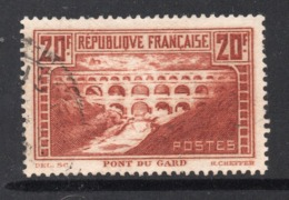 PONT DU GARD - OBLITERE - YT 262 C Type II A - Dent 13 - COTE 55 € - Francia