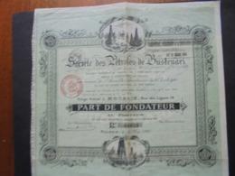 ROUMANIE - ROUBAIX 1920 - STE DES PETROLES DE BUSTENARI - PART DE FONDATEUR - BELLES VIGNETTES - Non Classés