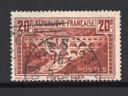 PONT DU GARD - OBLITERE - YT 262 A Type I - Dent 13 Et Demi / 13 - COTE 45 € - Francia