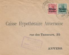 542/30 -- Province Du LIMBOURG - Enveloppe TP Germania ST HUIBRECHTS LILLE - Censure HASSELT -Kreemers, Hoofdonderwijzer - WW I