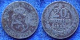 BULGARIA - 20 Stotinki 1888 KM# 11 Ferdinand I As Prince - Edelweiss Coins - Bulgaria
