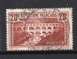 PONT DU GARD - OBLITERE - YT 262 A Type I - Dent 13 Et Demi / 13 - COTE 45 € Perf Lettre C Invisible - Francia