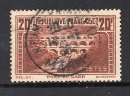 PONT DU GARD - OBLITERE - YT 262 Type IIB - Dent 13 - COTE 55 € CHAUDRON FONCE - Francia