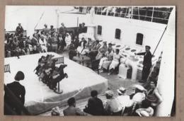 CPSM PHOTO PAQUEBOT - Bâteau TB PLAN SS CUBA Croisière 1932 - TB ANIMATION JEU COURSE CHEVAUX - Paquebots