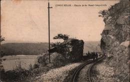 ! Cpa, Alte Ansichtskarte Congo Belge, Belgisch Kongo, Chemin De Fer, Matadi - Leopoldville, Eisenbahnstrecke, Railway - Trains