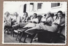 CPSM PHOTO PAQUEBOT - Bâteau TB PLAN SS CUBA Croisière 1932 - TB ANIMATION Personnes Assises Sur Transat - Paquebots