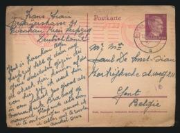 GELE BRIEFKAART  1942 - WW II