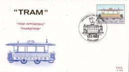 België - FDC 678-680 - 12 Februari 1983 - Geschiedenis Van De Tram En Trolleybus - OBP 2079-2081 - FDC