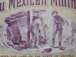USA -  ARIZONA 1910 - THE ESPIRITU MEXICAN MINING - TITRE DE 5 ACTIONS DE 1$ - BELLE VIGNETTE - Aandelen