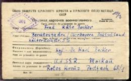 RUSSIE - CP DE PRISONNIER DE GUERRE EN FRANCHISE DE MOSCOU POUR L'ALLEMAGNE DU 8/1/1947 AVEC CENSURE - TB - 1923-1991 USSR