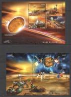 D494 2013 GUYANA SPACE MARS EXPLORATION #8602-09 MICHEL 20 EURO 2KB MNH - Espacio