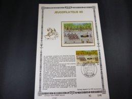 "BELG.1980 1994 FDC Filatelic Card NL ,zijde & Gouden Letters ,oplage 200 Ex !  : "" Jeugdfilatelie "" - FDC"