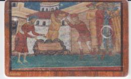 Romania - Monastery Byzantine Icon  Phonecard - See Photos (front/back) - Romania