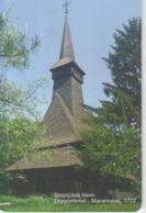 Romania - Maramures Dragomiresti Wooden Church Phonecard - See Photos (front/back) - Romania