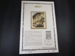 """BELG.1980 1997 FDC Filatelic Card NL ,zijde & Gouden Letters ,oplage 200 Ex !  : """" Diest """" - FDC"""