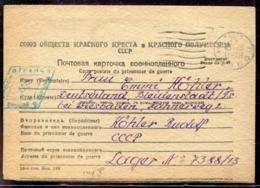 RUSSIE - CP DE PRISONNIER DE GUERRE EN FRANCHISE DE MOSCOU POUR L'ALLEMAGNE DU 23/5/1948 AVEC CENSURE - TB - 1923-1991 USSR