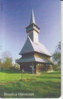 Romania - Maramures Harnicesti Sugatag Wooden Church Phonecard - See Photos (front/back) - Romania