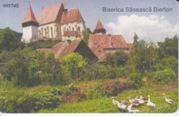 Romania - Sibiu Birthalm Biertan Medieval Fortress Phonecard - See Photos (front/back)  07.03 - Romania
