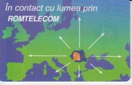 Romania - Europe Map Karte Carte Phonecard - See Photos (front/back) 04.08 - Romania