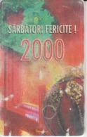 Romania - Christmas Noel Weihnachten Phonecard - See Photos (front/back) 2000 Millennium Santa Claus - Romania