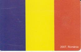 Romania - National Flag 2007 European Union 05.09 Phonecard - See Photos (front/back) - Romania