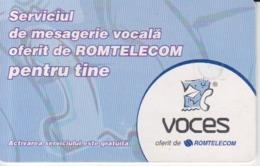 Romania - Voces Romtelecom  Phonecard - See Photos (front/back) - Romania