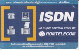 Romania - Isdn Romtelecom Phonecard - See Photos (front/back) - Romania