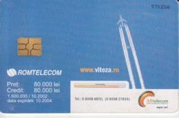 Romania - Airplane Jet Plane Romtelecom Phonecard - See Photos (front/back) - Romania
