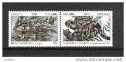 Ukraine MNH Triton Et Salamandre Batraciens. - Grenouilles