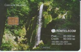 Romania - Nature Landscape - Beusnita Waterfall Romtelecom Phonecard - See Photos (front/back) - Romania